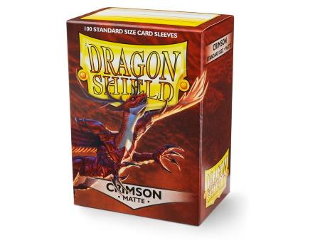 Dragon Shield Matte Sleeves Crimson (100)