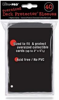 Ultra Pro Oversized Deck Protector Black (40)