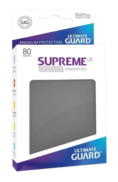 Ultimate Guard Supreme UX Sleeves Grey (80)