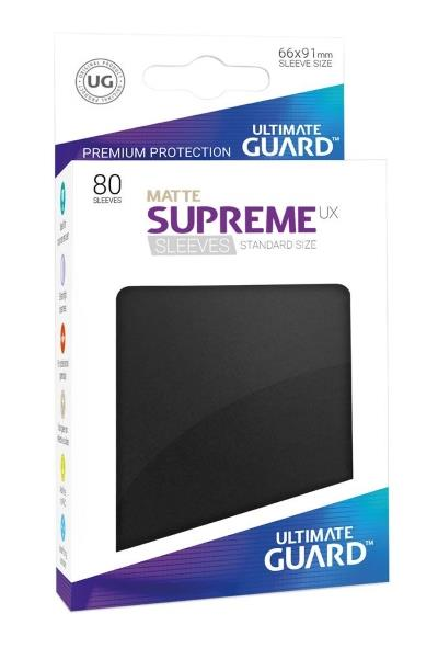 Ultimate Guard Supreme UX Sleeves Matte Black (80)