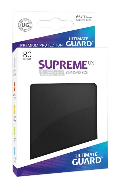 Ultimate Guard Supreme UX Sleeves Black (80)